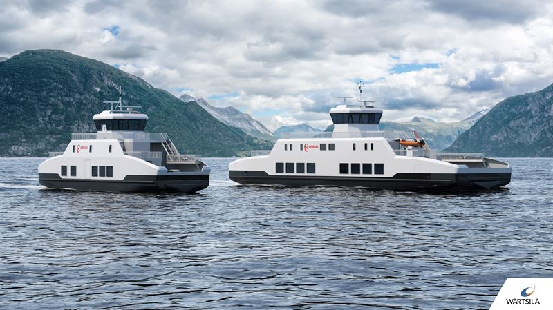 Wärtsilä to design and equip two zero-emissions battery powered ferries