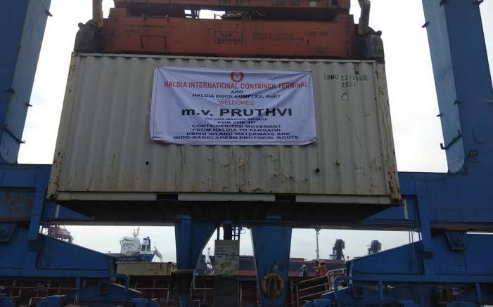 Adani Logistics moves 1st Container vessel from India to Bangladesh through Inland Waterways