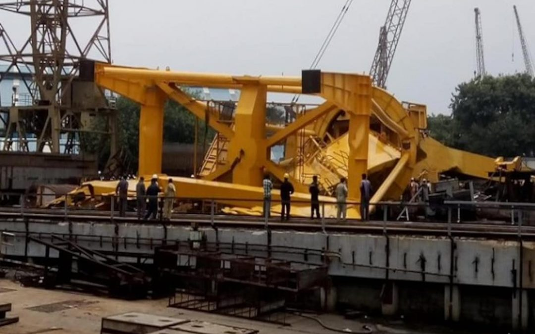 At Least 10 Killed In Crane Accident In Hindustan Shipyard Limited (HSL), India