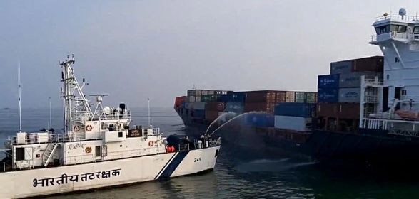 Container Fire on Ship Off India Highlights Ongoing Danger
