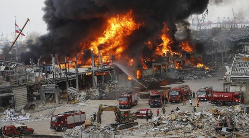 Huge Fire Breaks Out At Beirut Port, A Month After Deadly Explosion