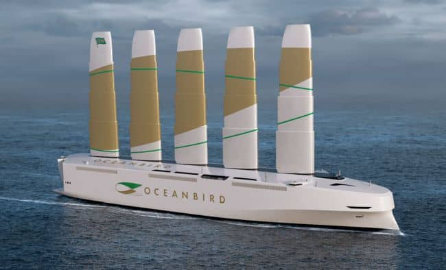 World's First Wind Powered PCTC Concept 'Oceanbird' Introduced