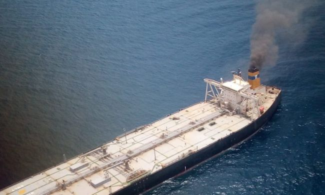 VLCC Carrying 270000 Tonnes Of Oil Catches Fire Off Sri Lankan Coast