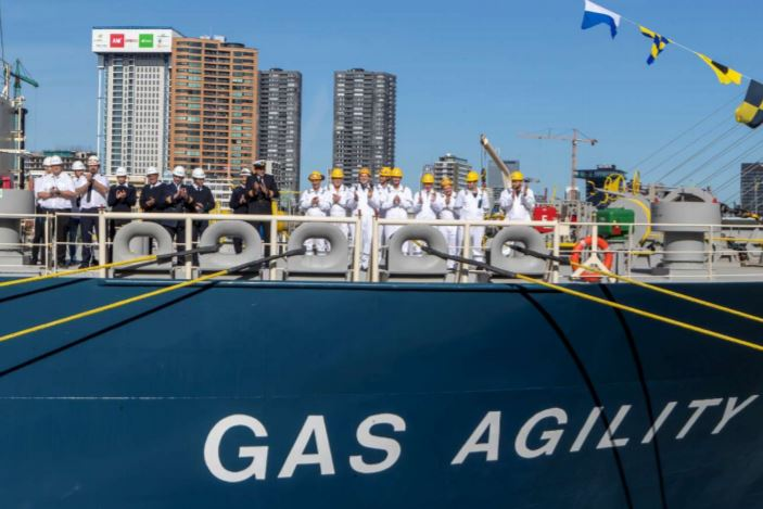 """Total and Mitsui O.S.K. Lines Officially Name The World's Largest LNG Bunker Vessel: """"GAS AGILITY"""""""