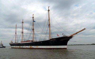 Historic Sailing Ship Arrives In Hamburg, Germany
