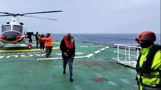 Stranded Seafarers Rescued by South African Research Vessel