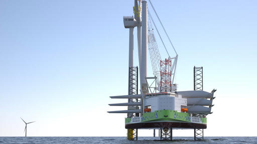 Ulstein Designs Hydrogen Hybrid Wind Turbine Installation Vessel