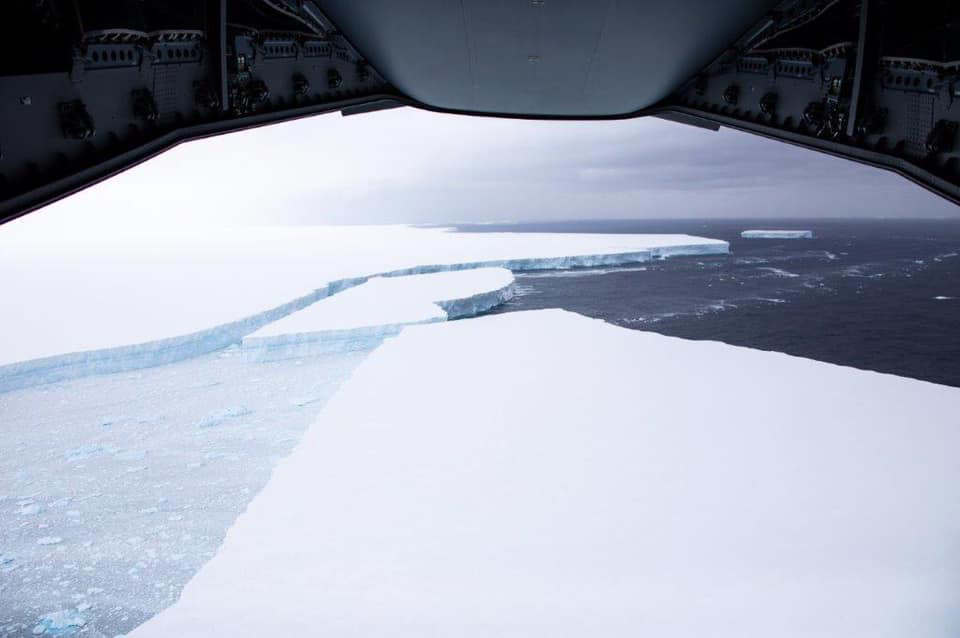 Images of World's Largest Iceberg Drifting in the Southern Ocean