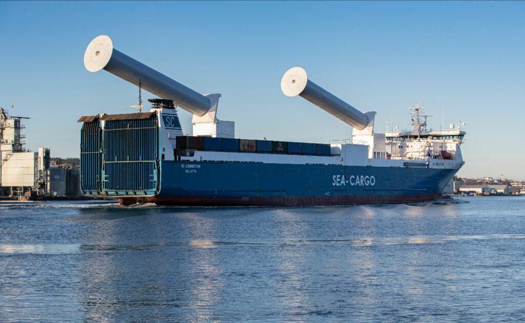 Norsepower: World's 1st Tiltable Rotor Sails Installed On SEA-CARGO RoRo