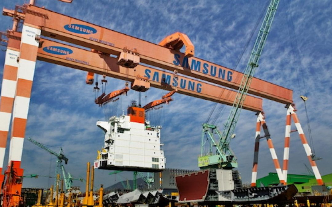 Samsung Shipyard Wins $707 Million Order To Build Five LNG-powered Container Ships