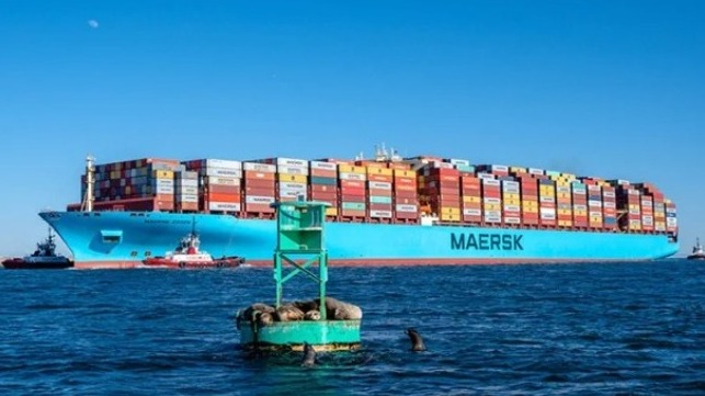 Maersk Boxship Losses 260 Container Overboard During Blackout