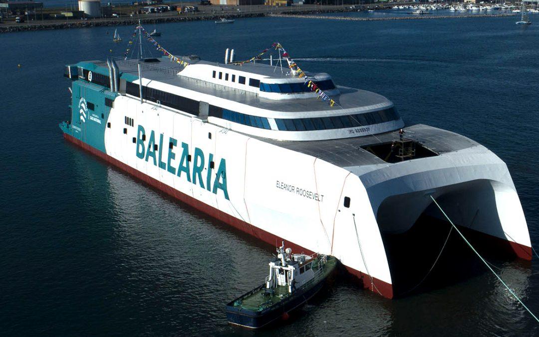 Baleària LNG-Powered Fast Ferry Starts Sea Trials