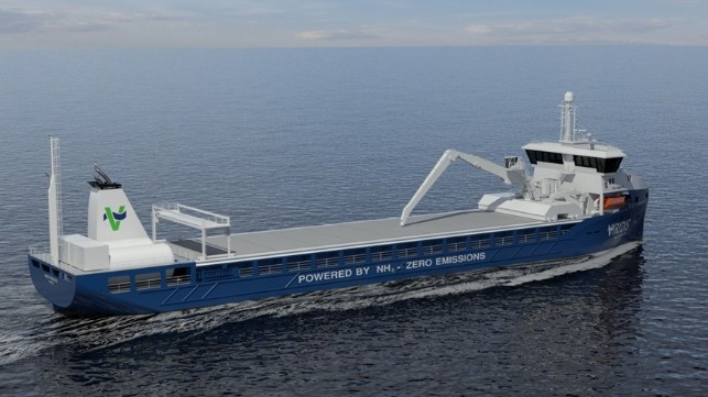 Plans From Norway For An Ammonia-Fuelled Short-Sea Bulker Service