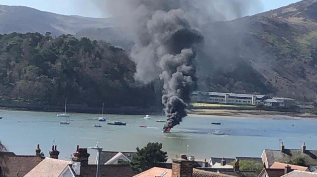 Good Samaritans Save Family of Four From Burning Yacht