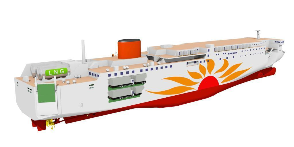 MOL Sets Fueling Process For LNG-Powered Ferries Under Construction