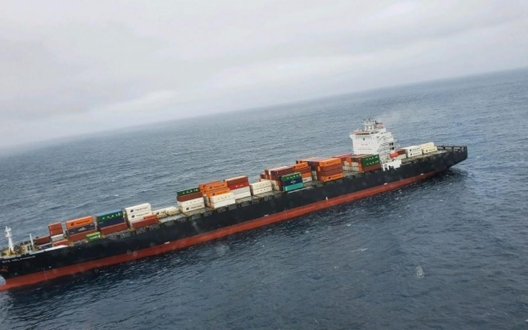 NYK Delphinus Under Tow Following Engine Room Fire Off US West Coast