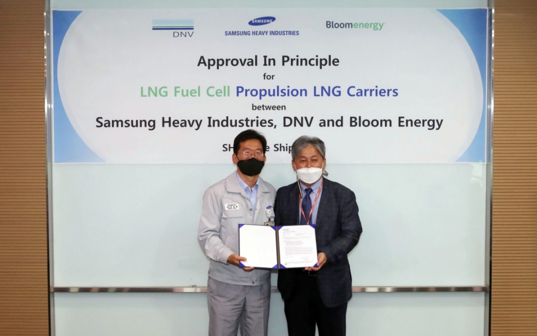 DNV Approved Samsung's Design For Fuel Cell-Powered LNG Carrier