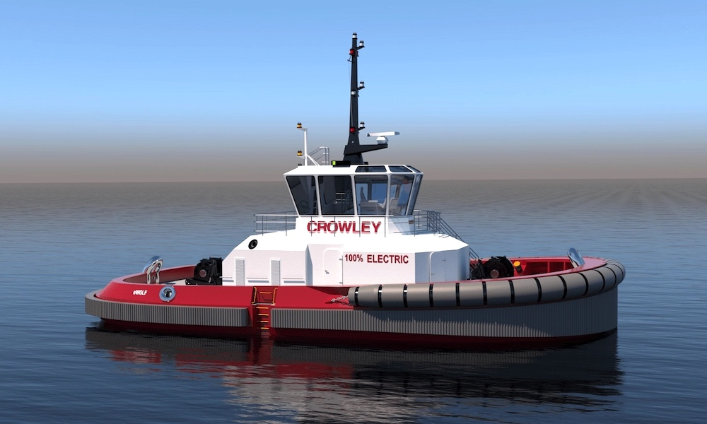 Crowley To Build And Operate First Fully Electric Tugboat In US