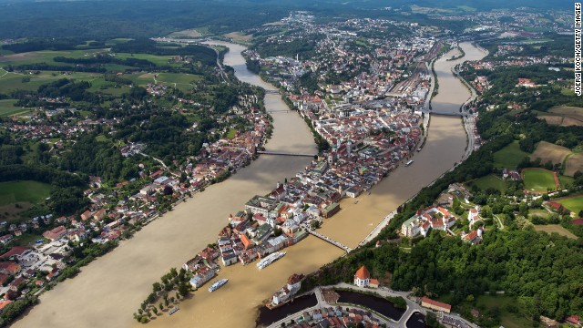 Rhine River Partially Closed In Germany To Shipping By Floodwaters