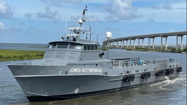 OMSA Launches Jones Act Enforcement Vessel To Patrol U.S. Gulf
