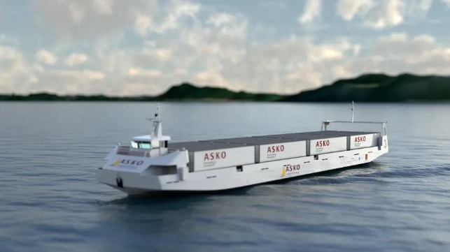 Construction Under Way For Asko's Autonomous Freight Ferries