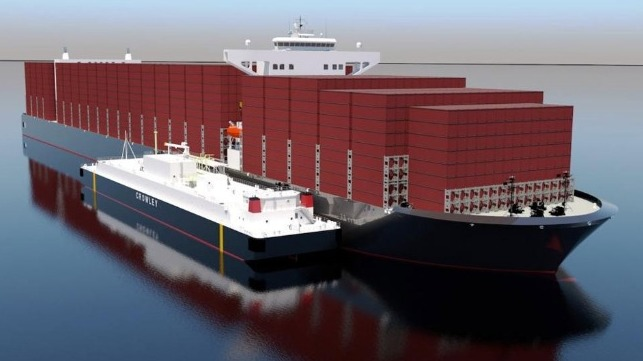 Crowley And Shell Team For Largest U.S. Jones Act LNG Bunker Barge