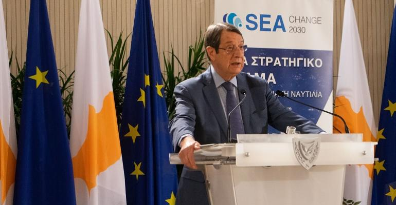 Cyprus President Anastasiades Launches Strategic Vision For Shipping