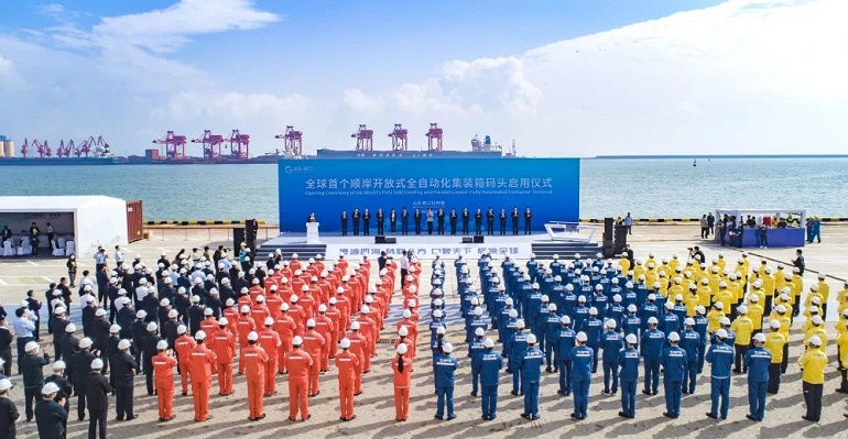 Rizhao Port Starts Operations Of Fully Automated Container Terminal